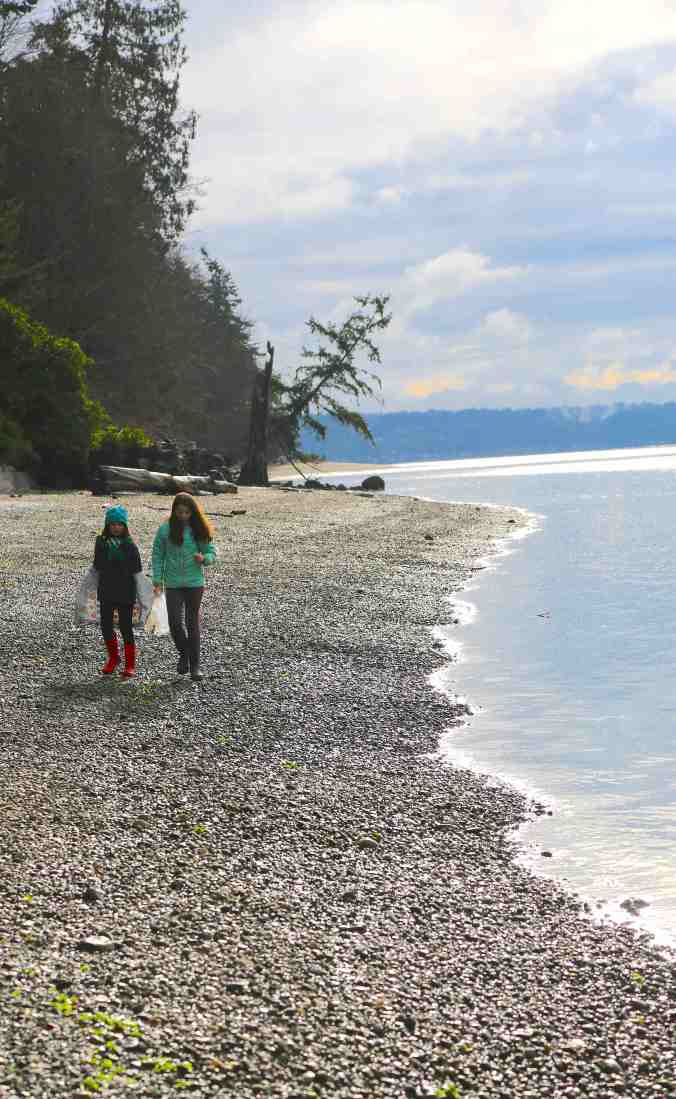 Bainbridge Island's Lost Coast. The Most Plastic-Free Stretch of Beach on the Island. © Liesl Clark