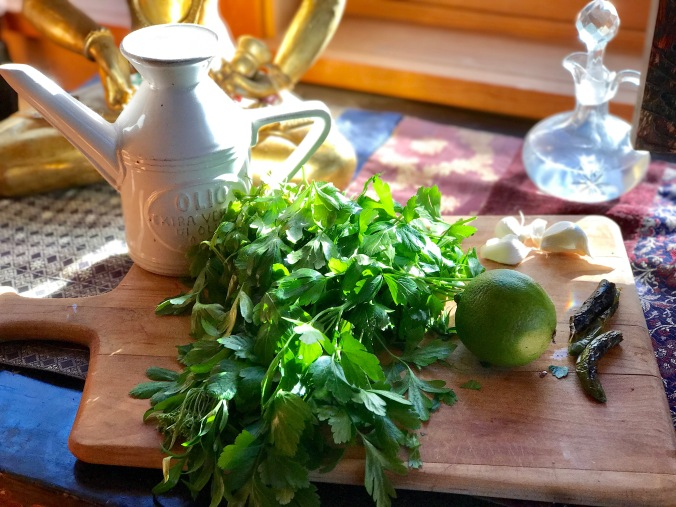 parsley-pesto-ingredients